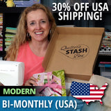 Quilter's Stash Box - Modern USA