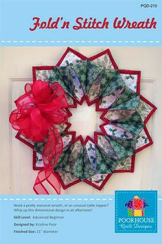 Fold n' Stitch Wreath Pattern