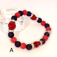 Red Lava Bead Scentable Bracelets