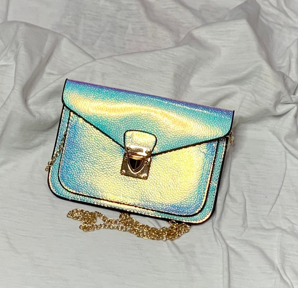 Holographic Color Changing Crossbody Purse