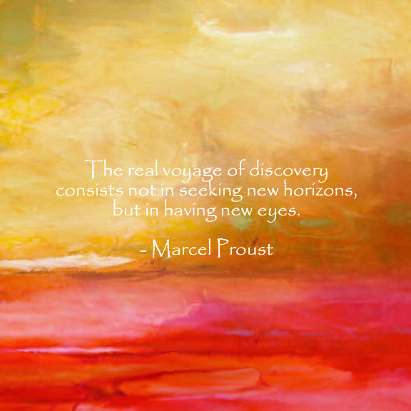 """Abstract Bourdeaux with Proust Quote""  Fine Art Print"