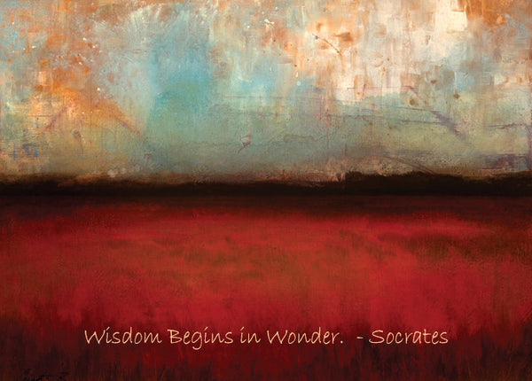 """Cranberry Fields II with Socrates Quote""  Fine Art Print"