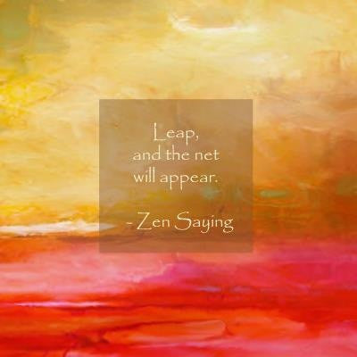 """Abstract Bourdeaux with Leap Quote"" Fine Art Print"