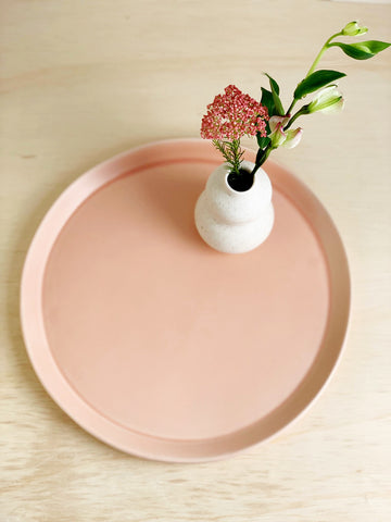 Modern Ceramic Serving Platter / Perfect Circle