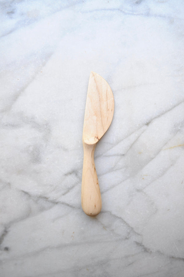Four Leaf Wood Shop - Maple Wood Chubby Cheese Knife