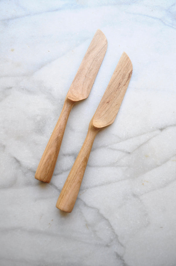 Four Leaf Wood Shop - Dark Maple Cheese Knife