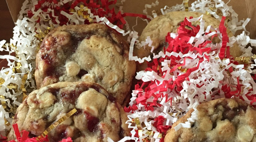 Gourmet Raspberry White Chocolate Holiday Cookies