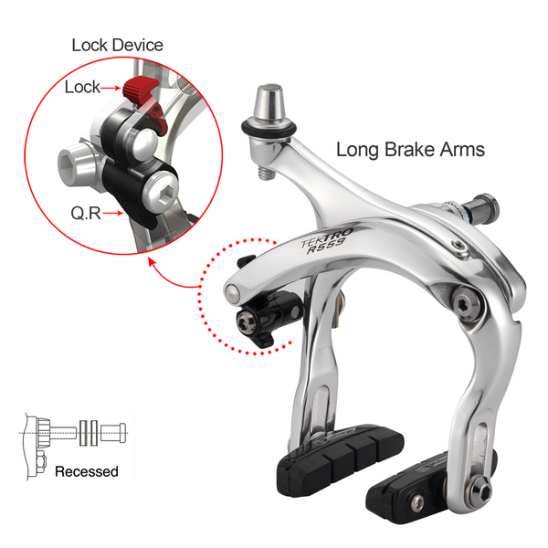 Tektro R559 Long Reach Road Calipers 55-73 mm