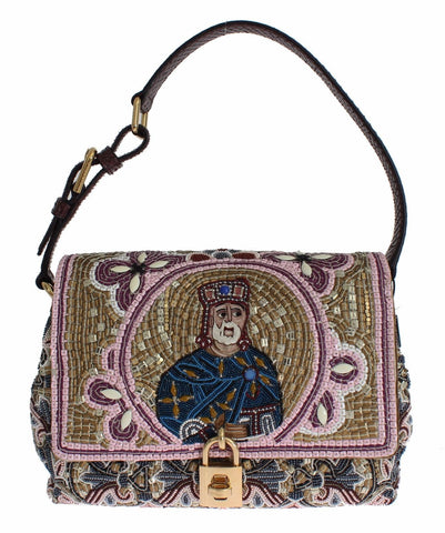 Dolce & Gabbana Miss Agata Raffia Woven Shoulder Satchel bag