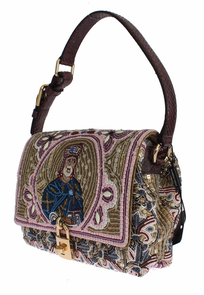 Dolce & Gabbana Miss Bonita Knight King Python shoulder bag