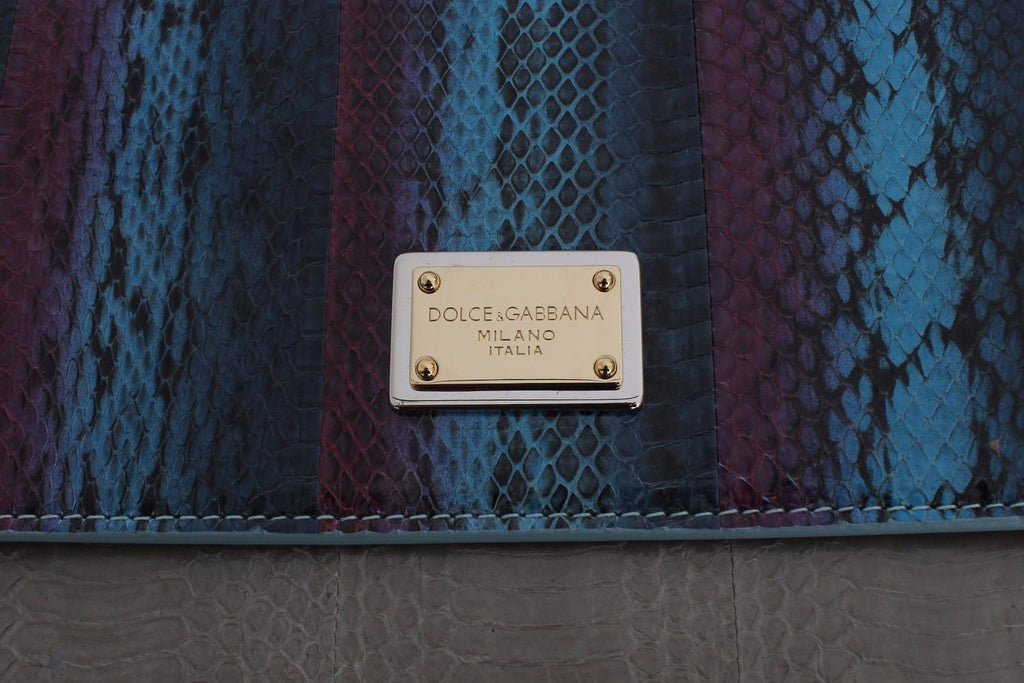 Dolce & Gabbana Multicolour Caiman Snakeskin Leather Sicily handbag
