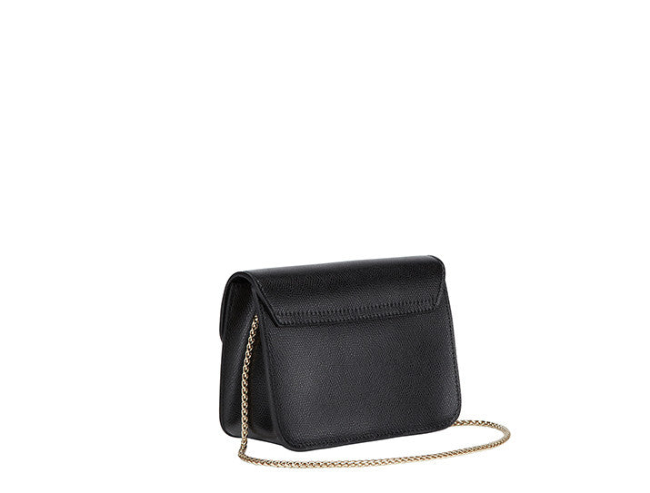 Furla Julia Mini Studded Crossbody handbag, black