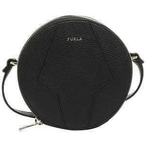 Furla Perla Mini Round Crossbody bag, black