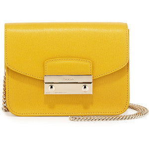Furla Julia Mini Crossbody handbag, yellow