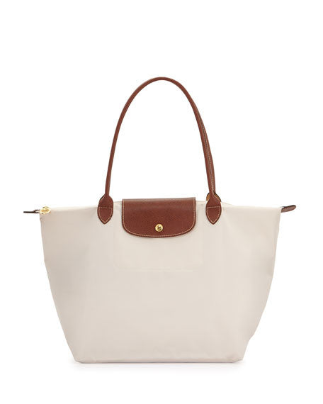 Longchamp Le Pliage Medium Shopper, ecru