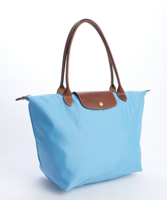 Longchamp Le Pliage Medium Shopper, sky blue