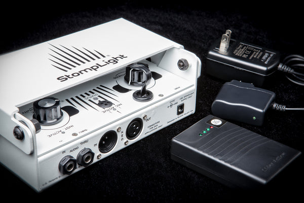 StompLight® Pro stage pedal and Power Bank - StompLight®