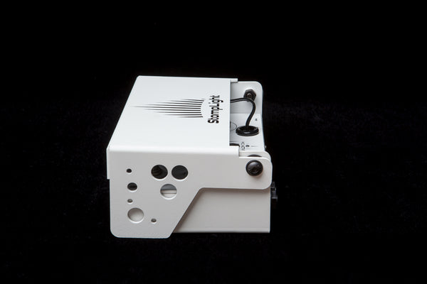 StompLight® Pro stage pedal (white) and Power Bank - StompLight®
