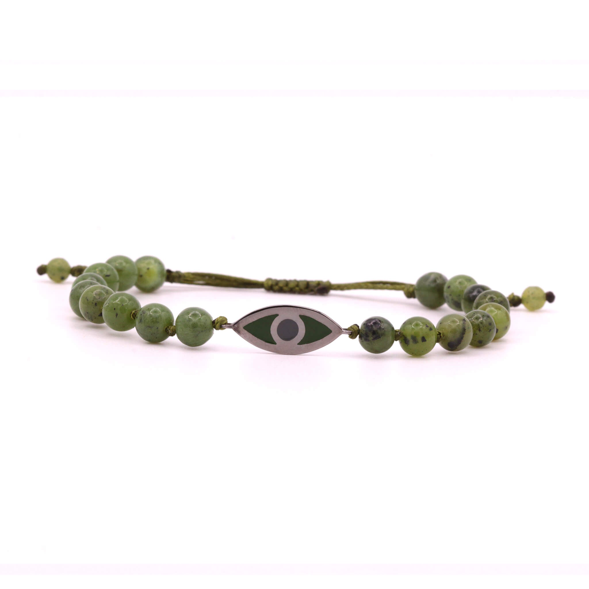 Green Jade Evil Eye Bracelet