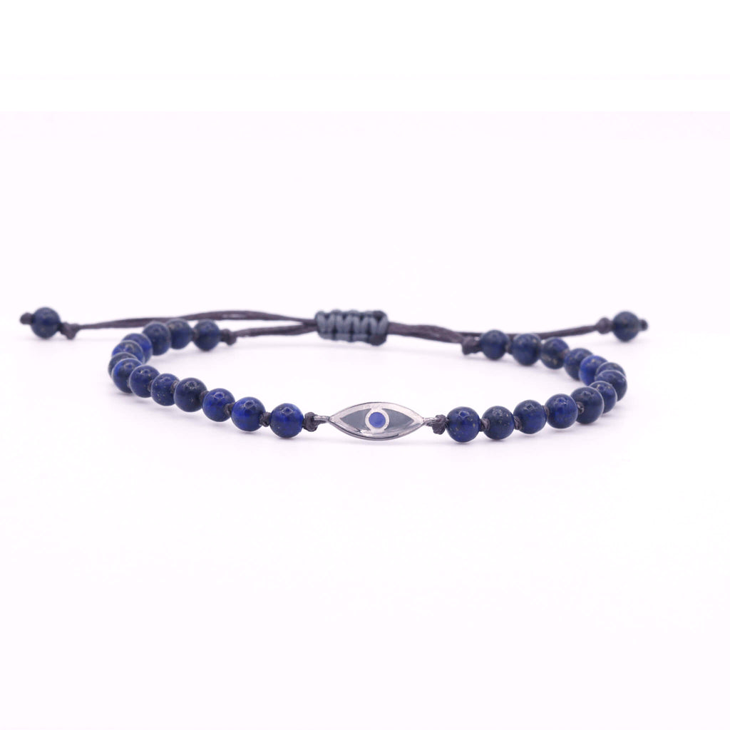 Lapis Evil Eye Mini Bracelet