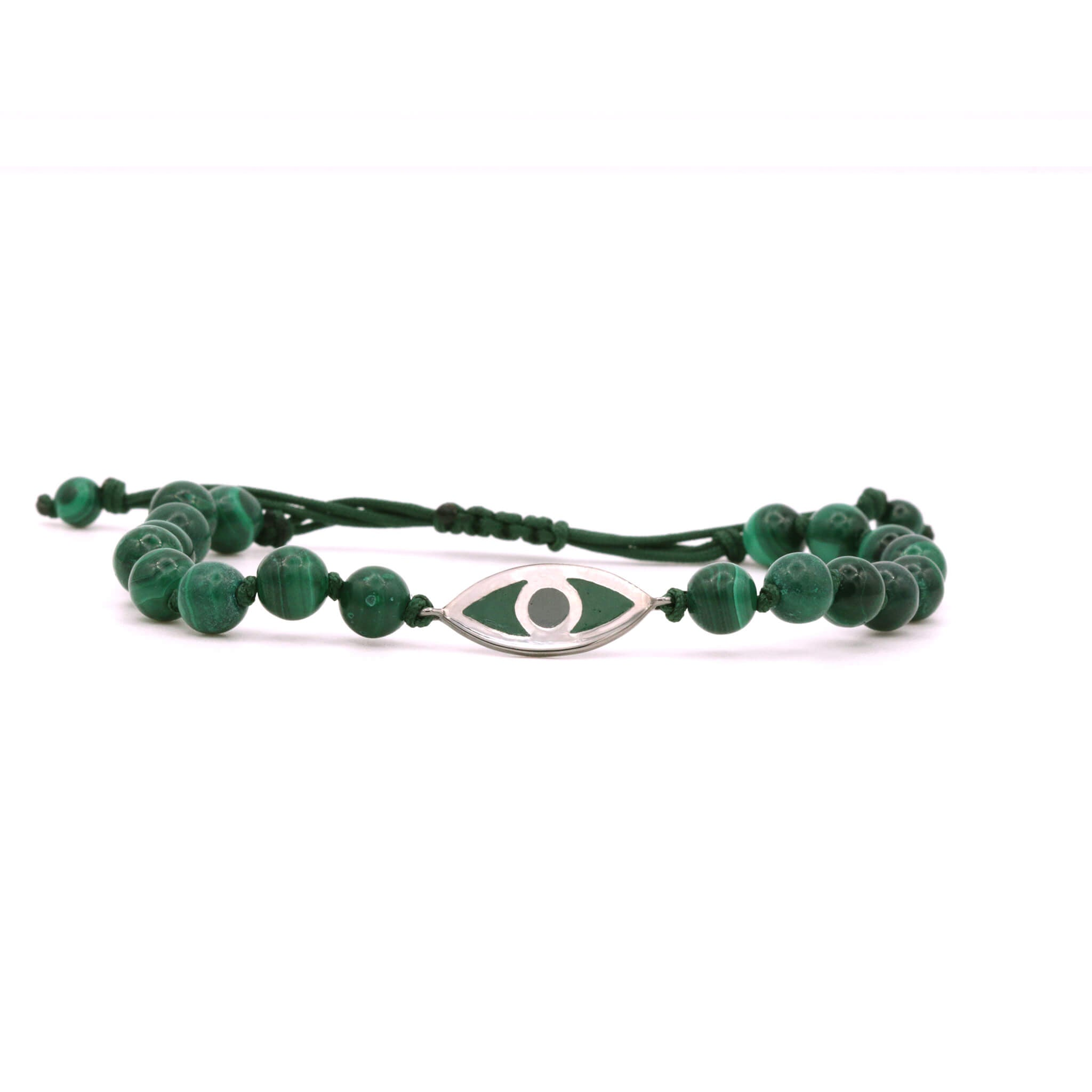 Malachite Evil Eye Bracelet