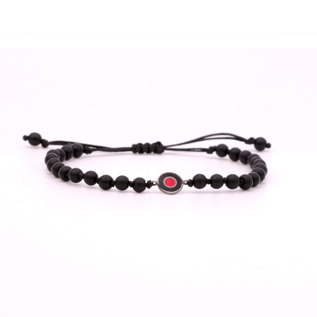 Mat Onyx Evil Eye Mini Bracelet
