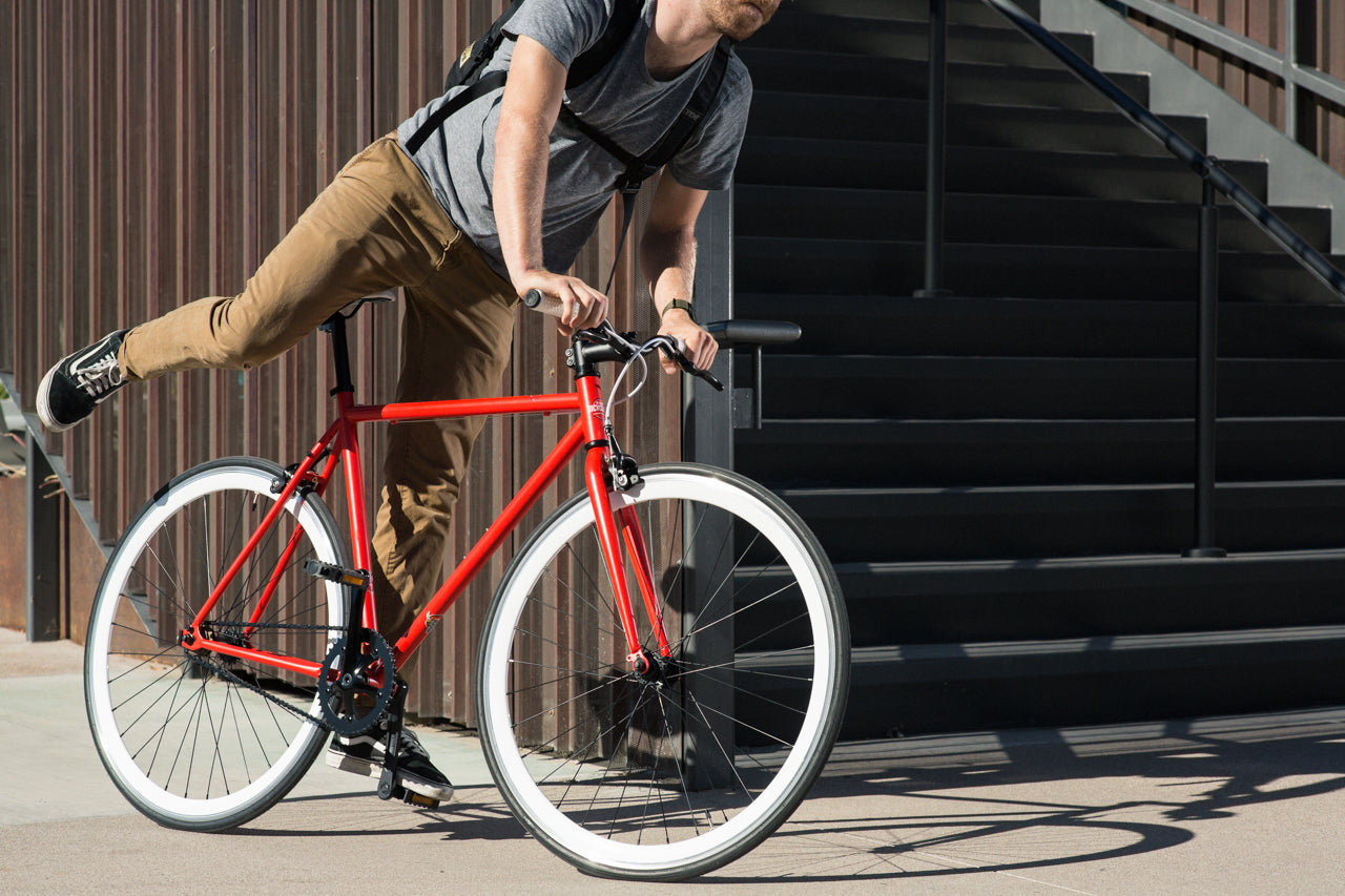 State Bicycle Co. Core Fixie Bike Wyldcat Red