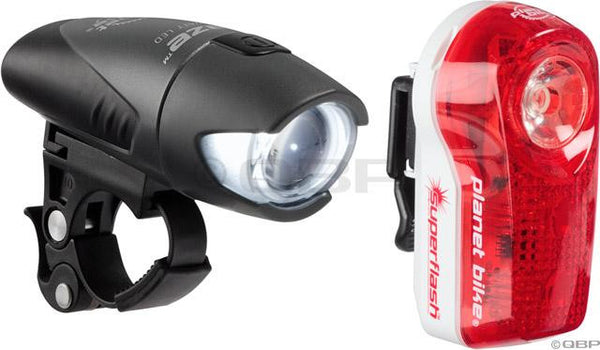 Planet Bike Blaze/ Superflash Headlight & Tailight Set Black