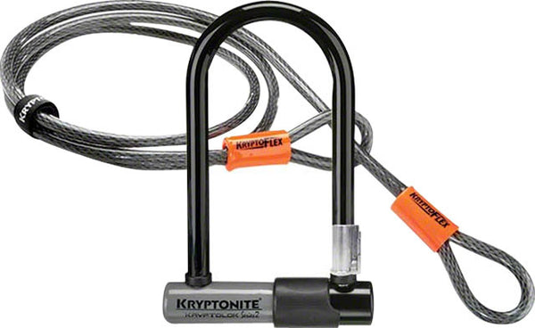 "Kryptonite Series 2 Mini-7 U-lock 3.25x7""  with 4' Flex Cable"