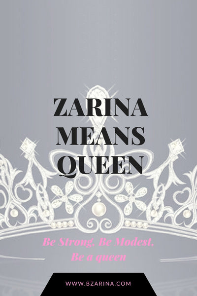 Who was B. Zarina and what does it Mean?
