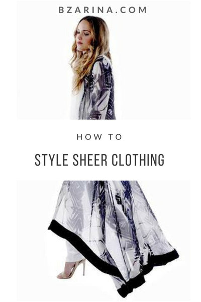 Modest Ways to Style Sheer Clothing