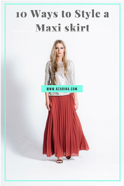 10 Modest Ways to Style a Maxi Skirt