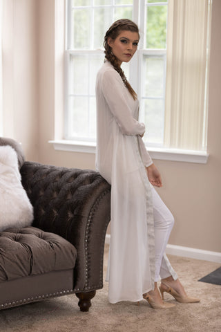 White Noor Evening Gown