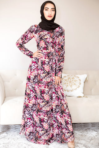 Floral Babydoll Maxi Dress