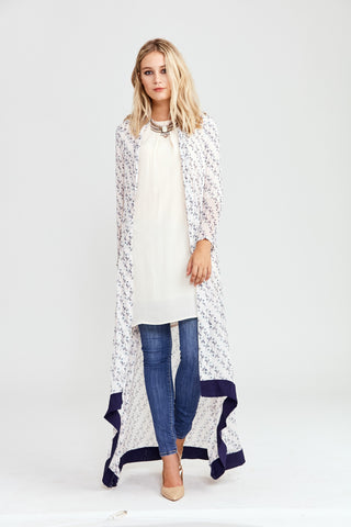 Monochrome Art Maxi Cardigan