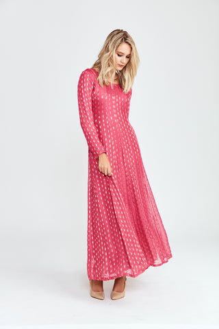Evening Breeze Beaded Maxi Gown