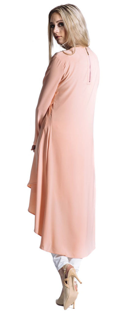 Peach Breeze Midi Dress