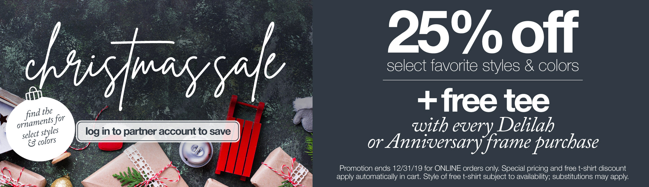 Holiday Sale 25% off Select Eyes of Faith® Favorite Styles & Colors