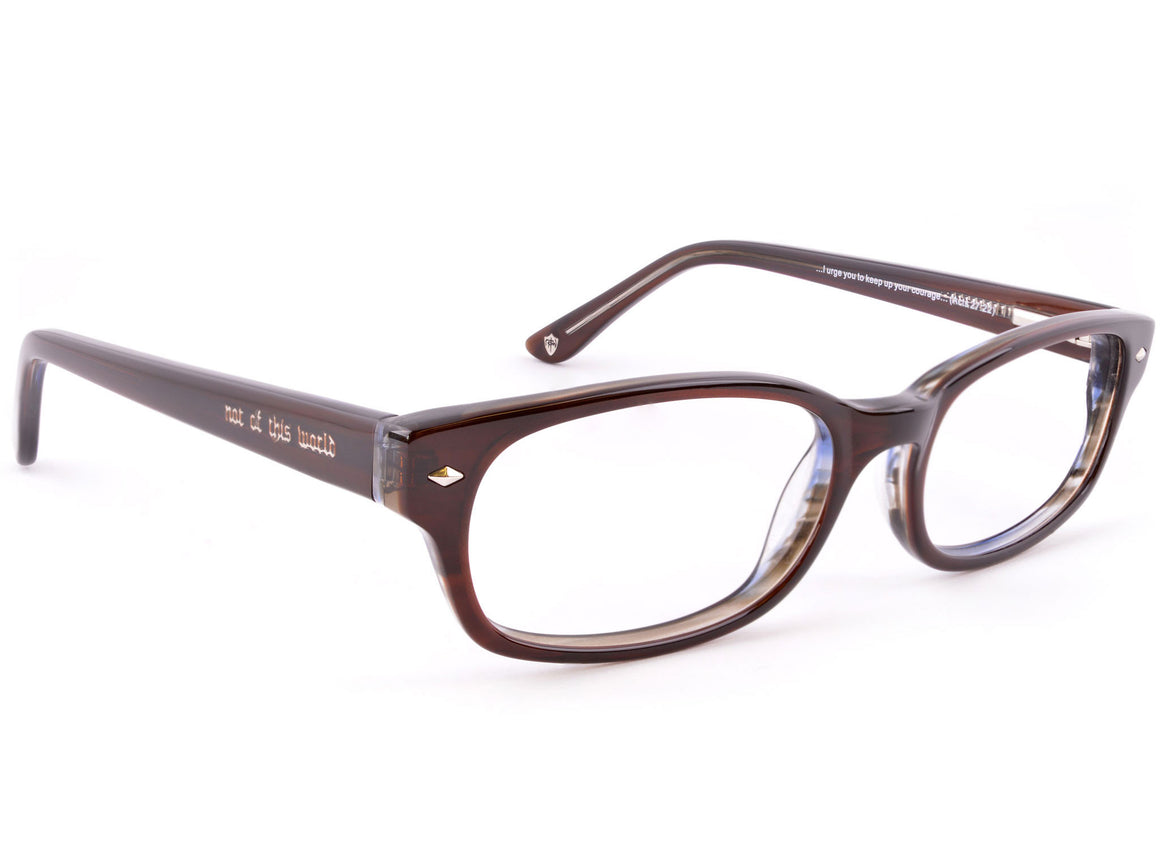 Eyes of Faith for NOTW Ophthalmic Frame Courage Brown Sky