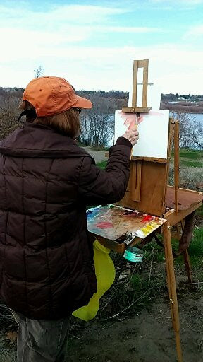 Location Painting sets Her Apart