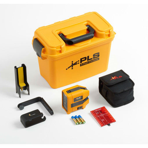 Pacific Laser 5009391 PLS 5R KIT/RBP5 5023322, 5-Point Red Laser Kit w/Lithium Ion Battery and Charger