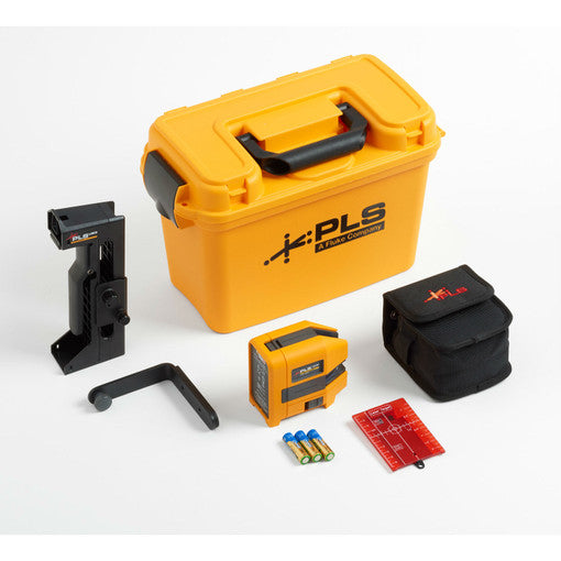Pacific Laser 5009450 PLS 180R KIT/RBP5 5023322, Cross Line Red Laser Kit w/Lithium Ion Battery and Charger
