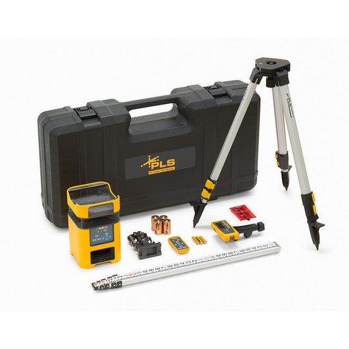 Pacific Laser Systems 5195946 PLS HV2R Combo Kit with Remote, Detector & Clamp, Tripod, Grade Rod In Rugged Case