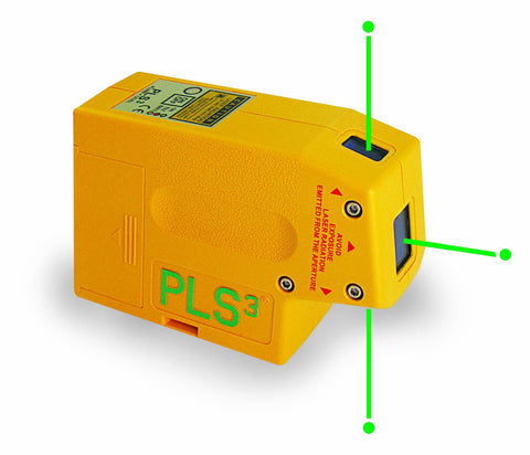 PLS PLS3-G PLS-60595 3-Beam Self-Leveling 3 Point Laser Plumb Level with Green Laser