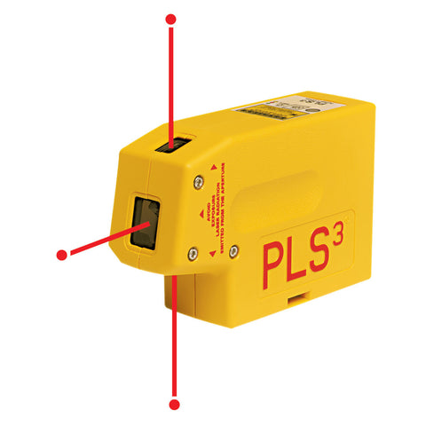 PLS PLS3 PLS-60523 Self-Leveling 3 Point Laser Plumb Level