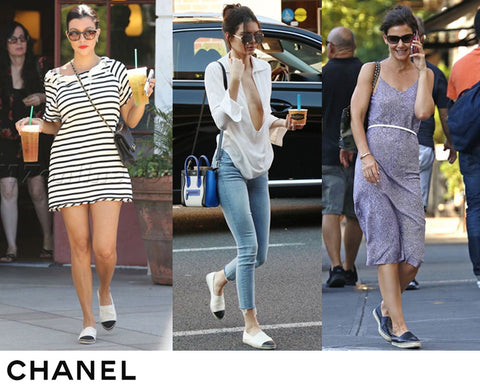 Iconic celebrity outfits in espadrilles