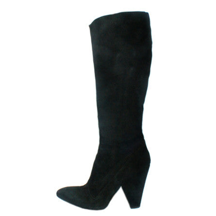Alaia Black Suede Knee High Boots (Size 40) - Encore Consignment - 1