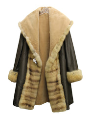 J. Mendel Sable and Beaver Fur Reversible Coat w/Hood (Size M) - Encore Consignment - 12