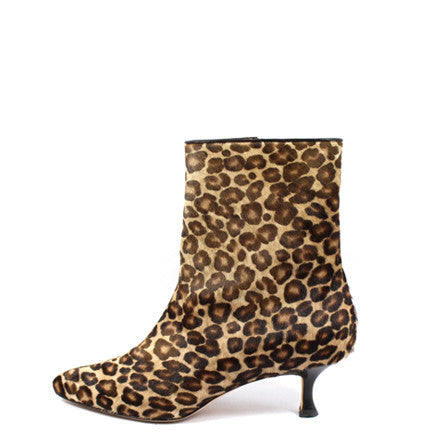 Manolo Blahnik Leopard Calf Hair Ankle Boots (Size 38) - Encore Consignment - 1