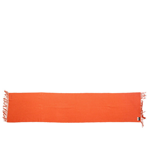 Hermes Burnt Orange Cashmere Muffler Scarf - Encore Consignment - 1